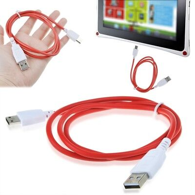 Red Color DC Charger Power Cable Cord Fuhu Nabi DreamTab DMTab Jr XD Kids Tablet