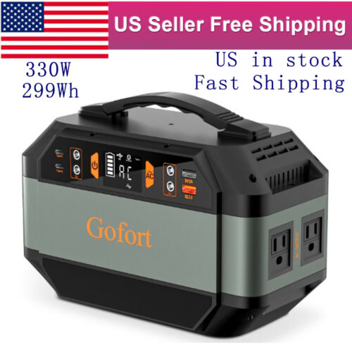 330W 299Wh Solar Generator Portable Power Station Backup Battery Pack CPAP