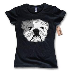 damen t shirt english bulldog englische bulldogge baumwolle schwarz s. Black Bedroom Furniture Sets. Home Design Ideas