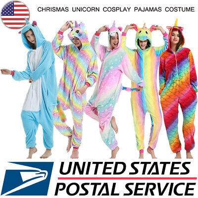 Christmas Costumes Adults (Licorne Unisex Adult Pajamas Cosplay Christmas Unicorn Sleepwear Outfit)