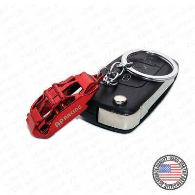 Car Truck Brake Caliper Racing 3D Alloy Keychain Ring Home Key Decoration Red