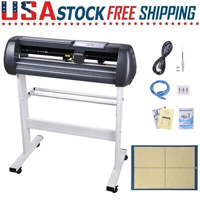 28 Vinyl Cutter Plotter Cutting Sign Sticker Making Machine Software 3 Blades