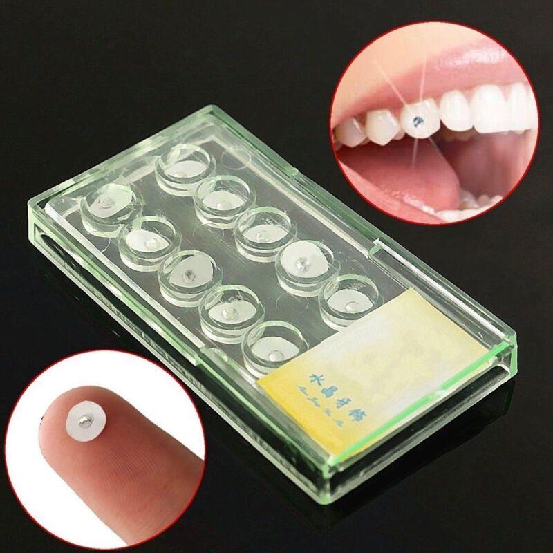 10 teile / satz 2mm Oral Kristall Zahn Ornamente Zähne Zahn Schmuck Edelsteine