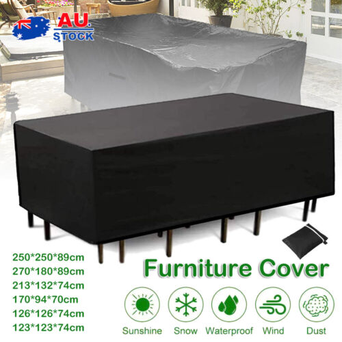 Garden Furniture - Waterproof Outdoor Furniture Cover Garden Patio Rain UV Table Sofa Protector AUS