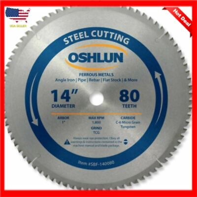 14 Inch Blade Carbide Chop Saw Evolution Power Tools 80 Tooth Metal Tcg Cold Cut