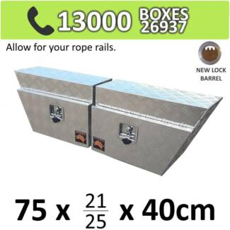 Aluminium Under Tray Body Toolboxes Ute Storage Box 724RL SET