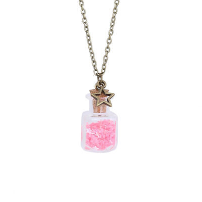 Glow in the Dark Fairy Wish Bottle Necklace Magic Pixie Dust Magical Star Charm - Pixie Dust Necklace