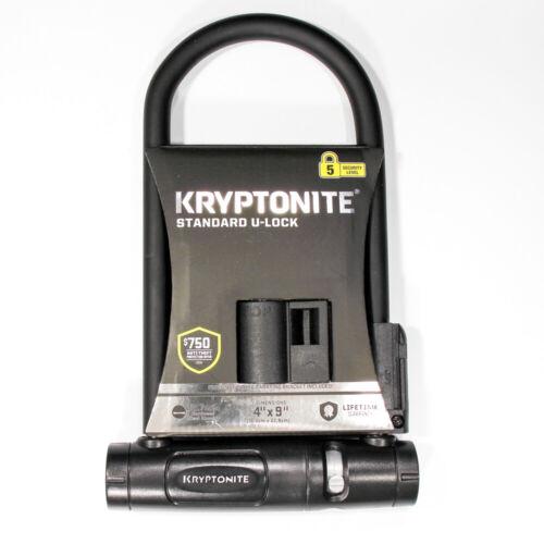 """Kryptonite Standard U-Lock 4""""x9"""" 12.7mm Steel Bike Lock - Level 5 - New"""