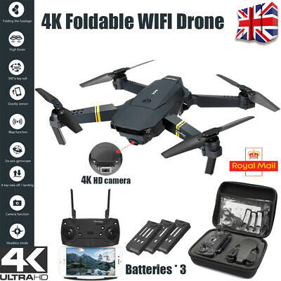4K HD Drone X Pro WIFI FPV Camera 3 Batteries 3D Foldable Selfie Quadcopter UK