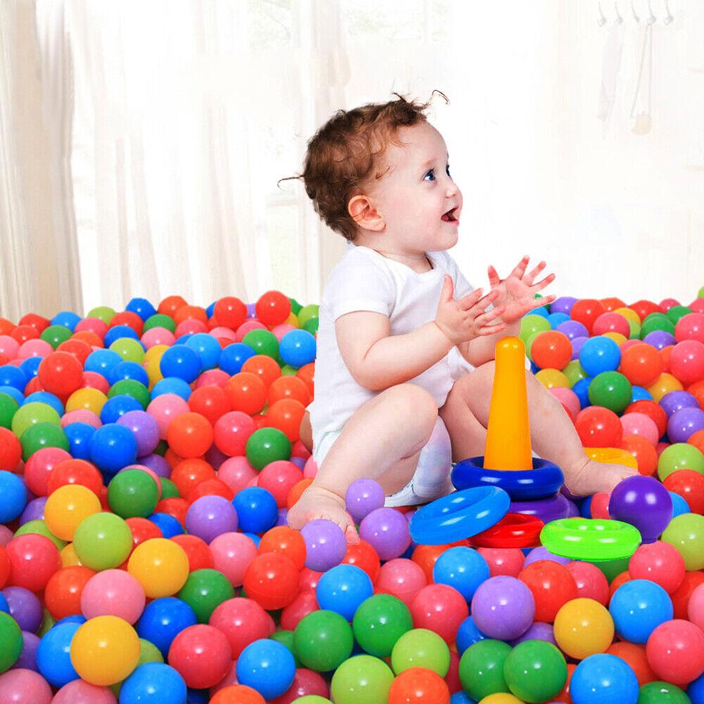 500X Baby Kid Pit Toy Game Swim Pool Soft Plastic Ocean Ball 5.5cm US FREE SHIP