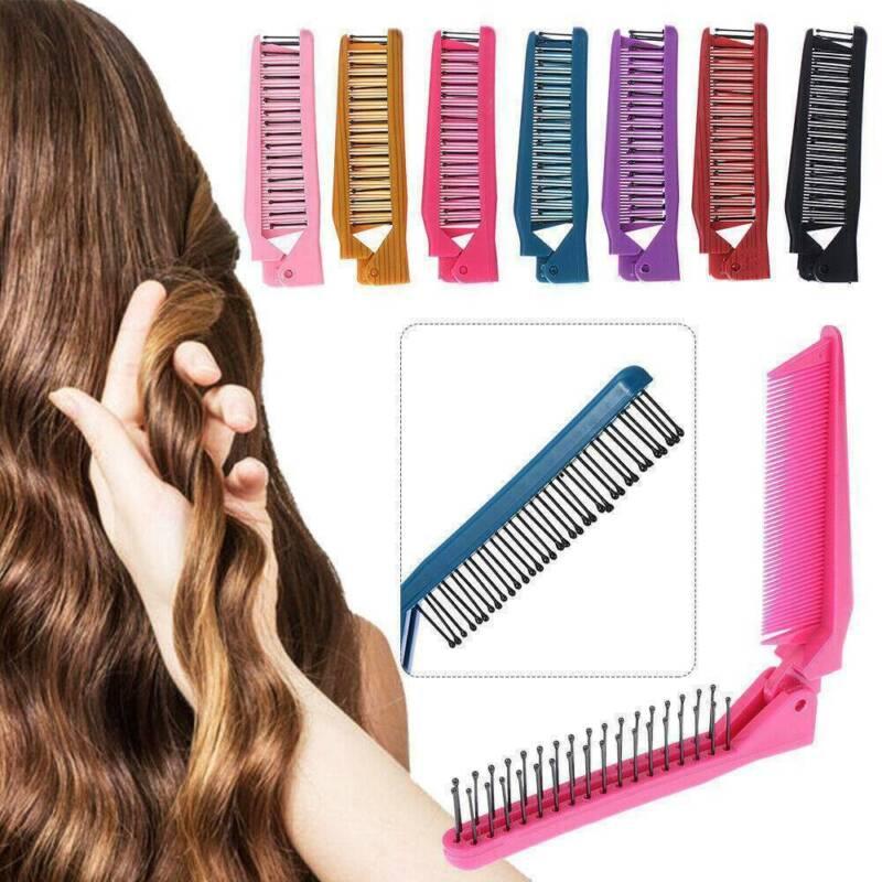 Women Travel Foldable Folding Hair Pocket Air Bag Comb Brush