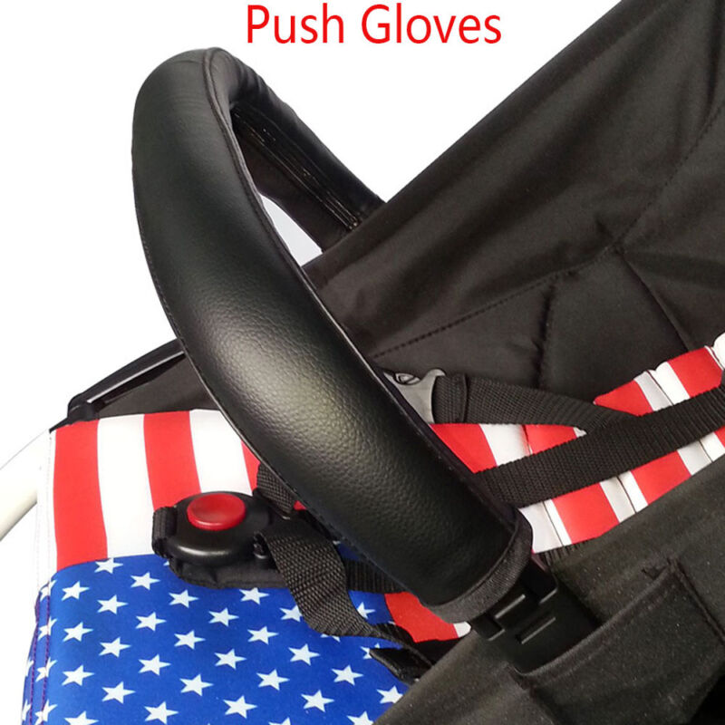 Leather Zipper Pram Hand Glove Pushchair Handle Sleeve Stroller Grip Cover