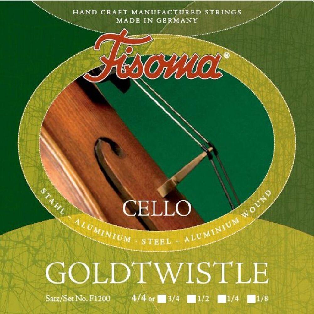 Fisoma Goldtwistle Violoncello Saiten SATZ in 5 Größen, Cello Strings SET