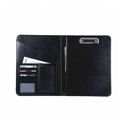 A4 PU Leather Clipboard Folder Organiser Holder Business School Conference File