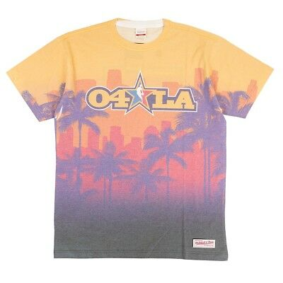 2004 NBA All Star LA Logo Mitchell & Ness Sublimated Print T-Shirt Men's