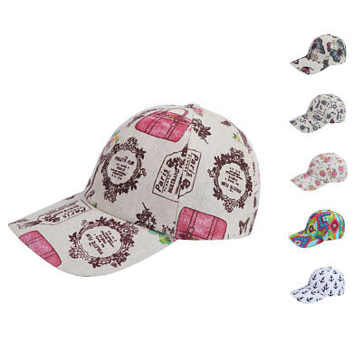 Designer Printed Baseball Summer Caps Hats for Women with Pony Tail Hook Loop (Hooks For Hats)