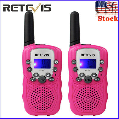 2* RETEVIS RT388 Kids Walkie Talkie Educational Toys Best Gift UHF 22CH