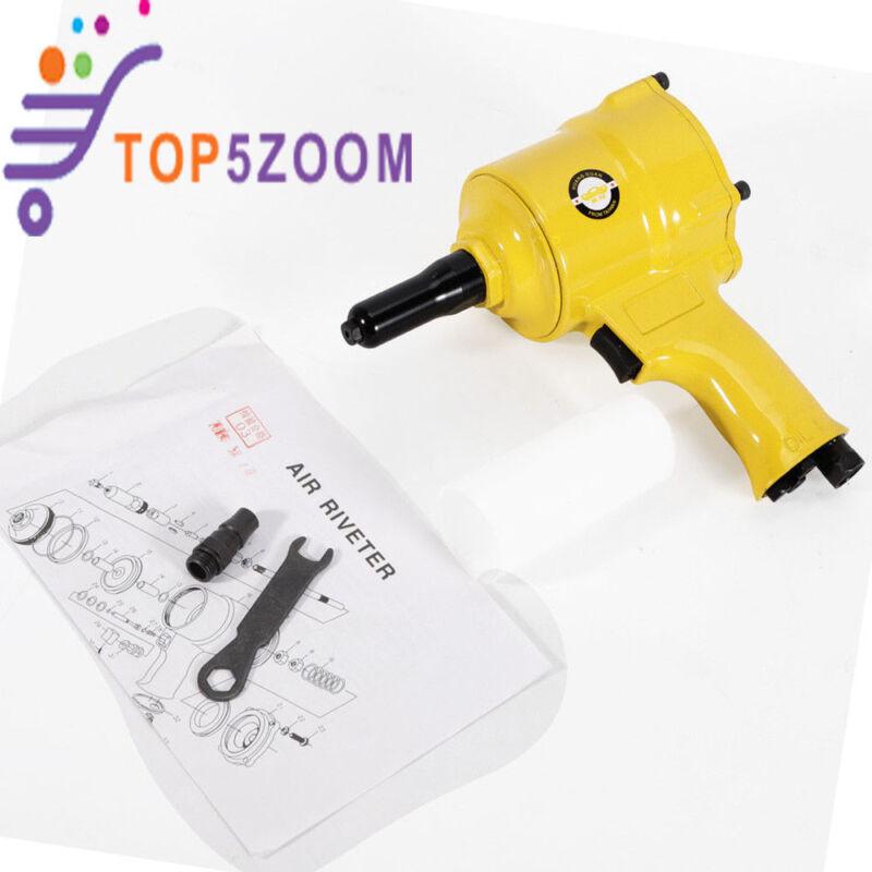 Best! Air Riveter Pneumatic Rivet Gun Handheld Tool Heavy Duty Repair Pop Rivet