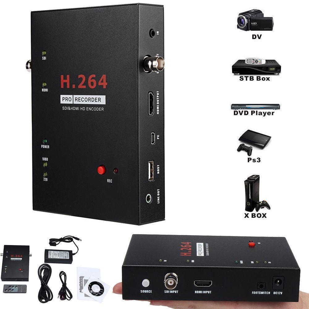 New Ezcap286 Sdi & Hdmi Encoder H.264 Pro Recorder 1080p Hd Video Recording Box