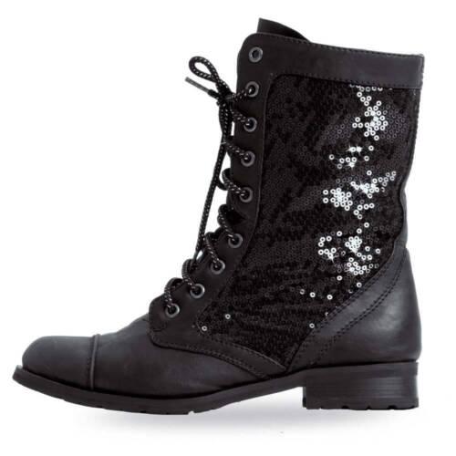 Gia Mia Glitter Combat Boot (Originally $51)