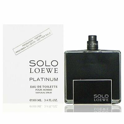 SOLO LOEWE PLATINUM FOR MEN-EDT-SPRAY-3.4 OZ-100 ML-AUTHENTIC TESTER-SPAIN