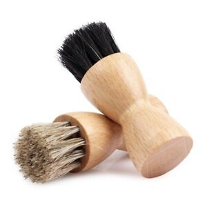 how to clean a shoe polish applicator brush