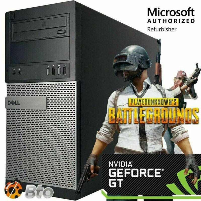 Fast Dell Gaming Computer Pc I5 16gb 120ssd+1tbhd Nvidia Gt1030 Wifi Win 10 Hdmi