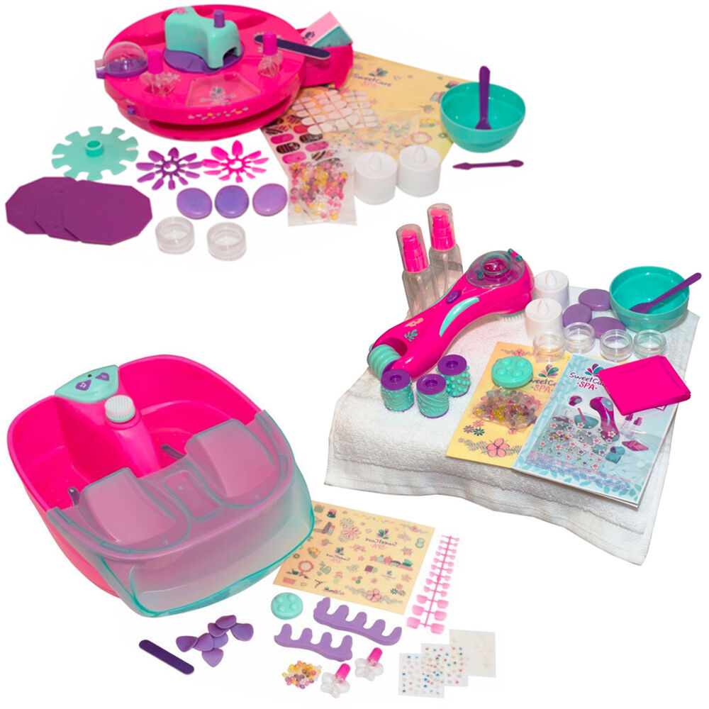 Fashion Nail Salon And Beauty Spa Games For Girls: SWEET CARE MANICURE PEDICURE SET GIRLS HANDS SPA FOOT