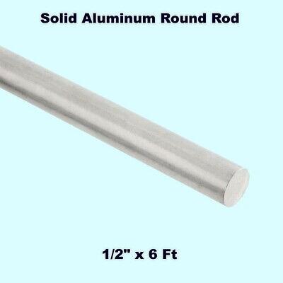 Solid Aluminum Round Rod 12 X 6 Ft Bar Stock Alloy 6061 Unpolished
