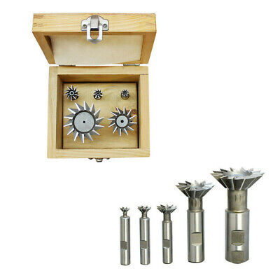 | 3//8-1-7//8 INCH 5 PIECE HSS DOVETAIL CUTTER SET 45 degree angle