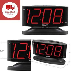 Digital Alarm Clock Easy to Read Large Numbers Swivel Base  Home Decoration New