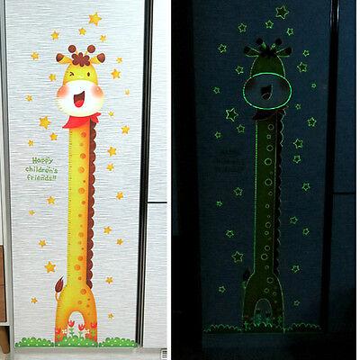 Giraffe Luminescent Growth Chart Height Measurement Art Wall Decal Kid Nursery 1