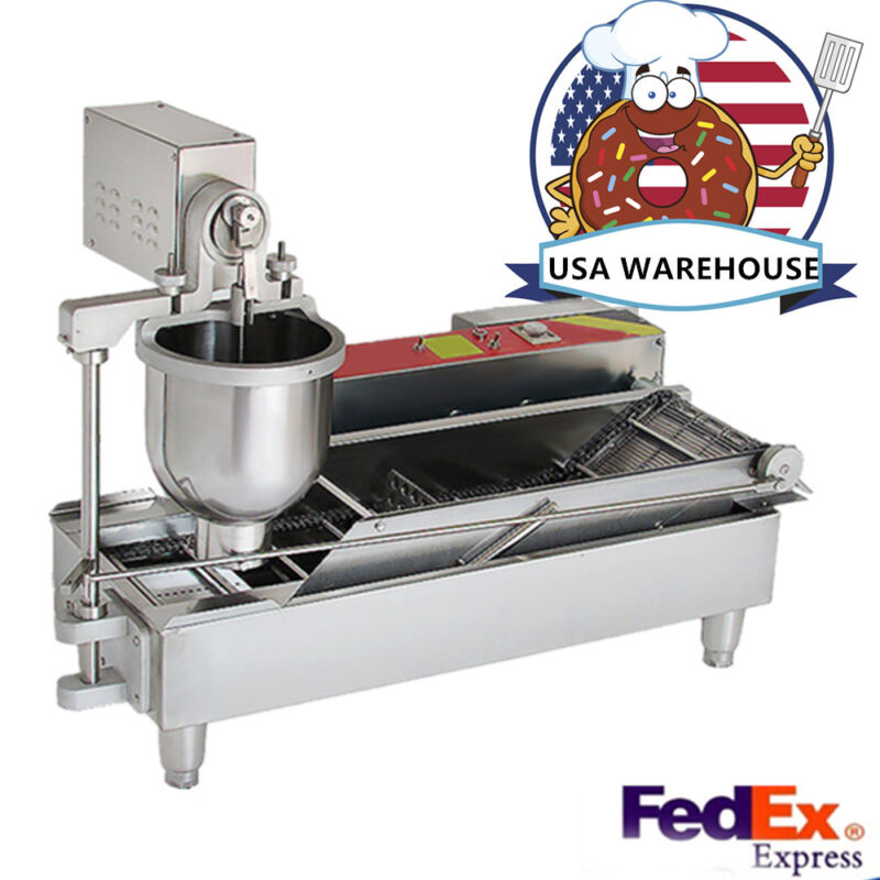 Automatic Commercial Donut Fryer maker Making Machine Donut Robot Cooker IN USA