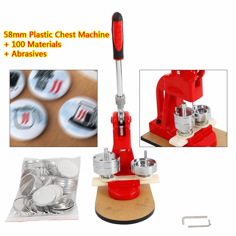 Used Buttonmaschine 100Stück Blindmaterial für 58mm Buttons Injektionsglasfaser