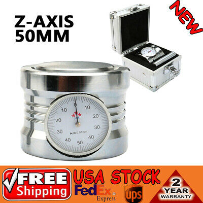 Magnetic Z Axis Dial Zero Pre Setter Tool 50mm 2 Height 0.01 Gage Offset Cnc