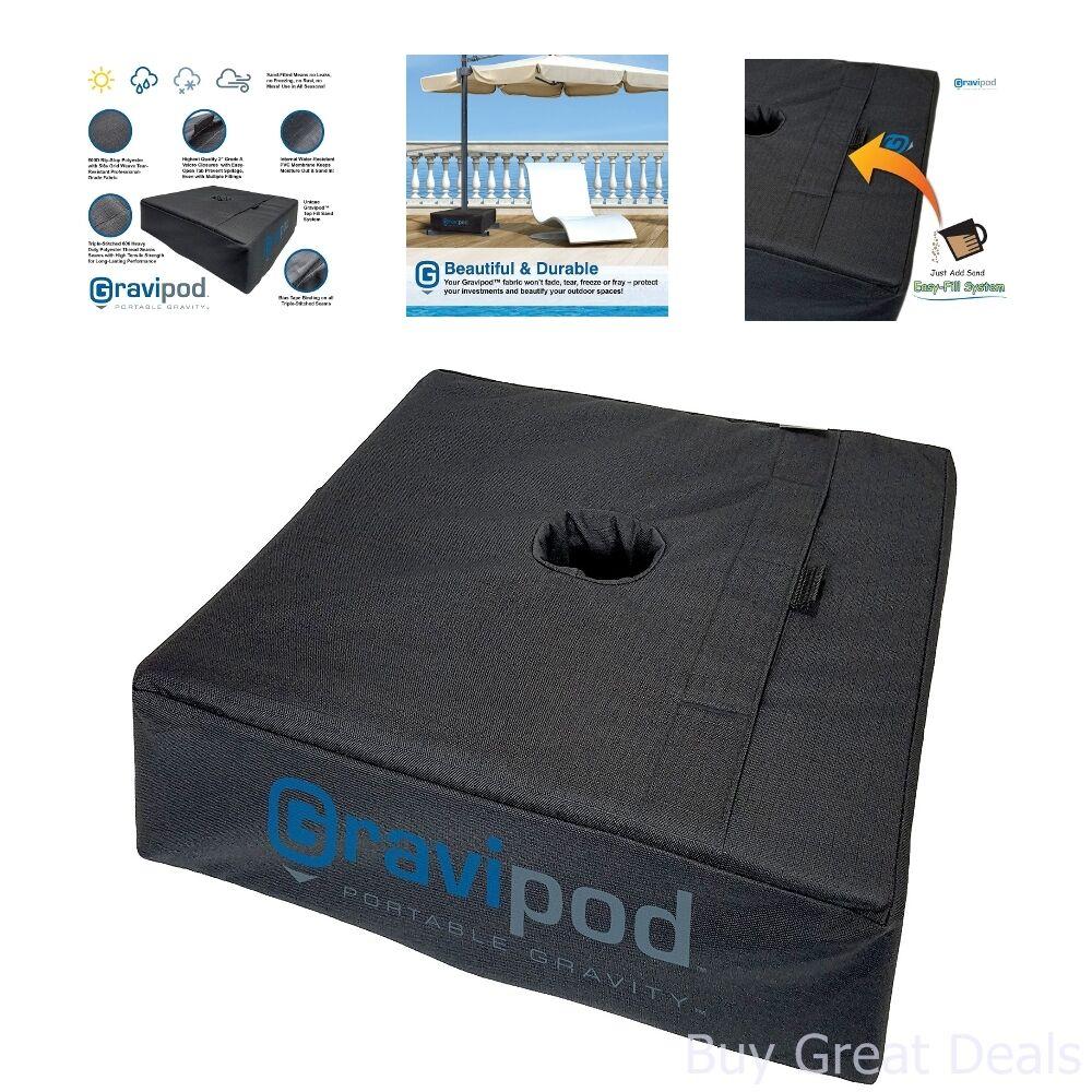 Weight Sand Bag For Flag Umbrella Base Stand Square Sandbag Patio Outdoor Black