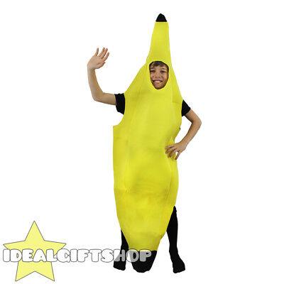KIDS BANANA COSTUME FRUIT FANCY DRESS NOVELTY FOOD CHILDS UNISEX BOYS - Kids Fruit Costumes