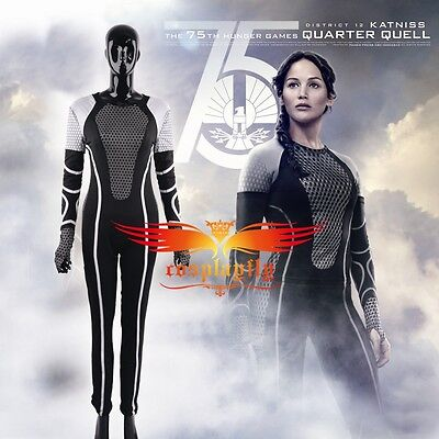 ching Fire Katniss Everdeen Tights Cosplay Costume Custom (Hunger Games Custome)