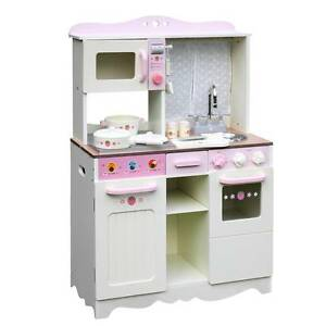 AUS FREE DEL-Colourful Wooden Pretend Kitchen Play Set Off White Sydney City Inner Sydney Preview