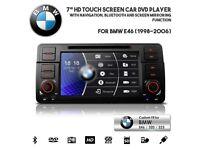 Used, BMW 1 3 5 Series E46 E39 X5 Car Screen Audio Radio Stereo BT USB AUX GPS Navigator Car DVD Player for sale  Leyton, London