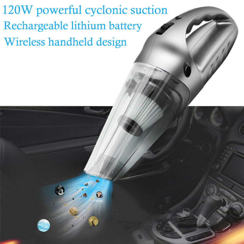 120W High Power Rechargeable Cordless Wet  Dry Portable Car
