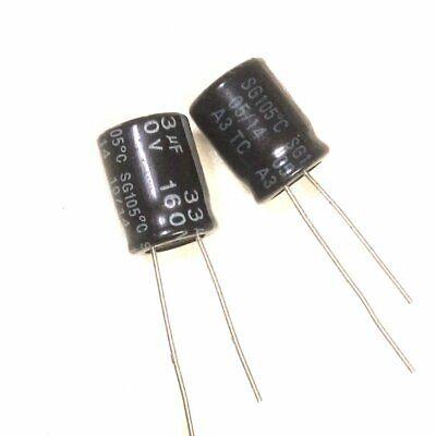 20pcs 160v 33uf 33mfd 105c Aluminum Electrolytic Capacitor 1020mm