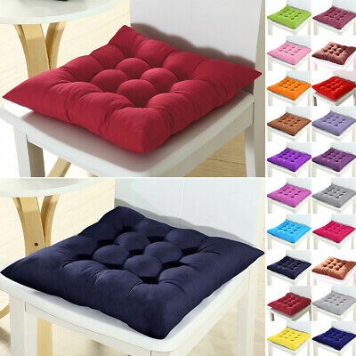 US Square Plain Chair Pad Cushion Cover Soft Thick Seat Cushion for Dining Home ()