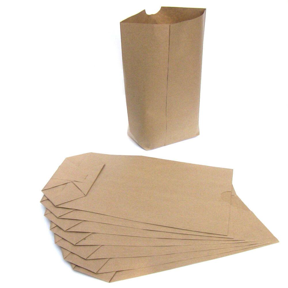 Papiertüten Kreuzboden Beutel Tragetaschen braun Tüten für Weihnachtskalender