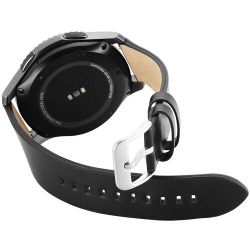 Samsung Gear S3 Frontier / Classic Leder Armband Black Echtleder Ersatzband
