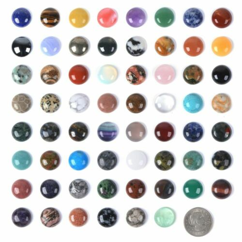 Wholesale 18mm Round cabochon CAB flatback semi-precious gemstone Save $ in bulk
