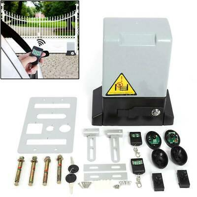 2000KG Sliding Electric Gate Opener Auto Motor Driveway Security Kit Remote Con