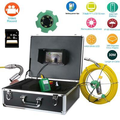 7lcd Dvr Pipe Inspection Video Camera 30m Waterproof Sewer Inspection System