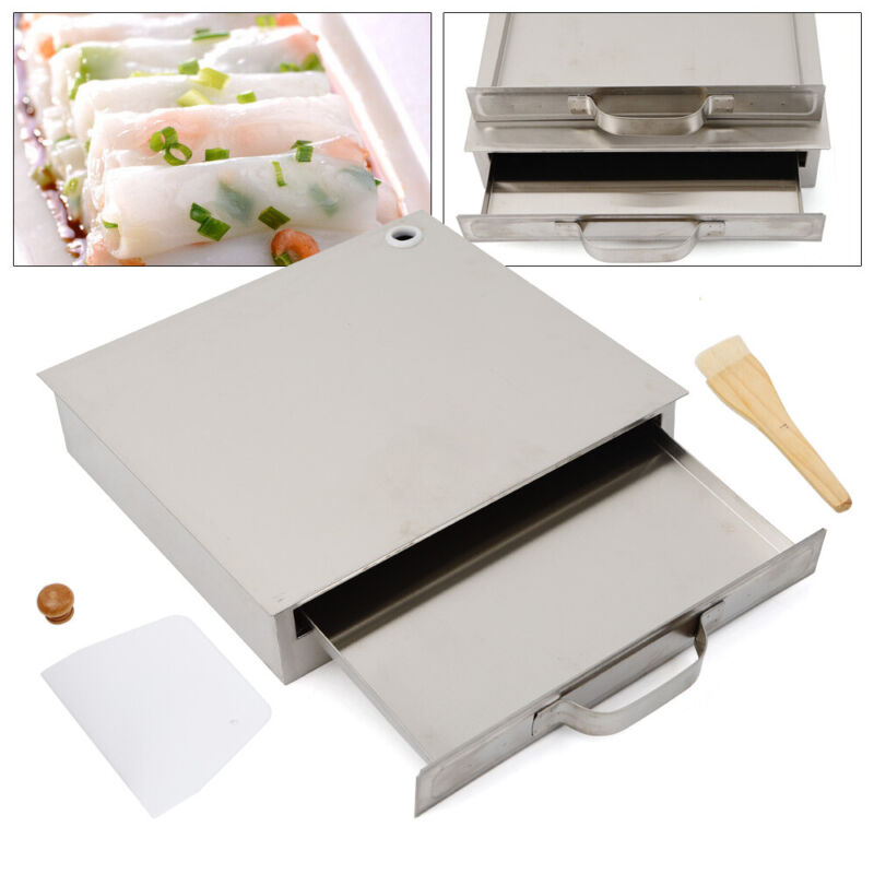 Household Stainless Steel 1 Layer Rice Noodle Roll Steamer Maker Machine Home US