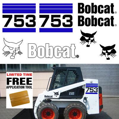 Bobcat 753 V2 Skid Steer Set Vinyl Decal Sticker Bob Cat Made In Usa Free Tool